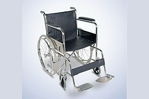 Steel wheel chair with solid tyre